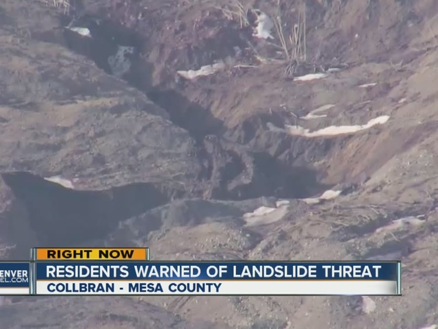 Evacuation watch issued for old Collbran landslide after pond leaked and…