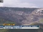 Evacuation watch issued for old landslide