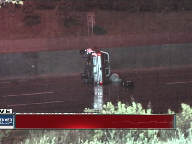 Rollover on I-25 & Hampden