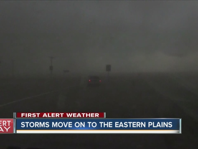 Storms move on to Eastern plains in Colorado