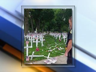 Driver plows through Kentucky memorial display