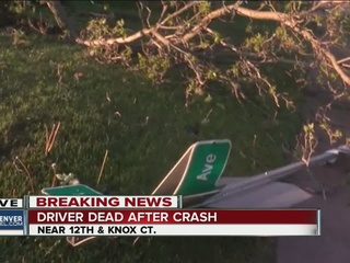 Driver dies after hitting sign, hydrant, tree