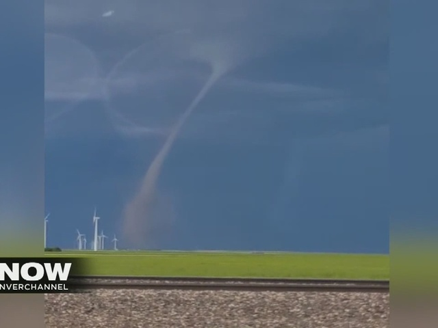 Tornado hits near Peetz, Colorado