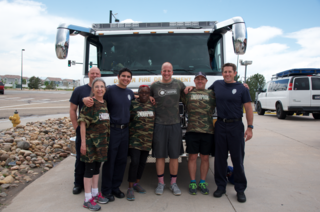 Firefighters help veterans through exercise