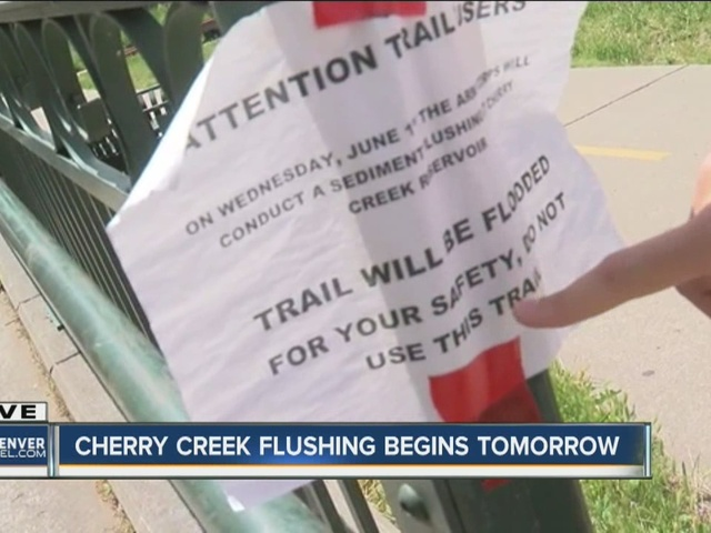 Cherry Creek Trail and bike path may be flooded Wednesday