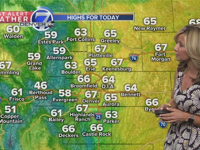 Cooler today with rain, thunder and lightning possible during the…