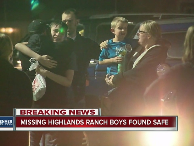 Missing Highlands Ranch boys safe found in Littleton