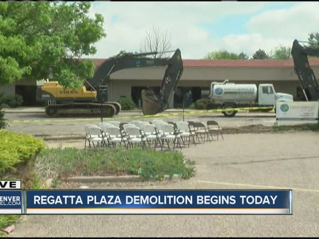 Watch party for demolition of empty strip mall being held in Aurora Tuesday