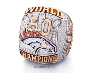 Broncos Super Bowl ring features 212 diamonds!