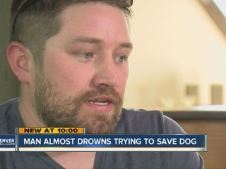 Man nearly dies trying to save drowning dog