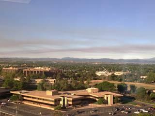Smoke, haze caused by Ft. Carson, NM, AZ fires