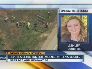 Evidence search underway in teen's murder