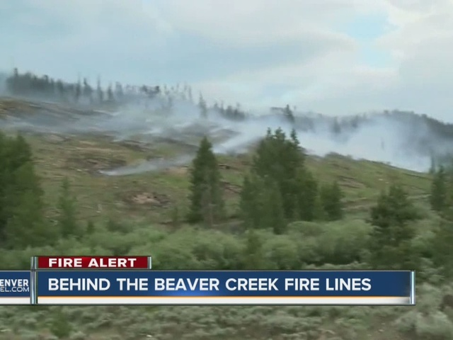 Behind the Beaver Creek fire lines