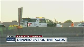 Officer hit, WB I-70 reopens at I-225