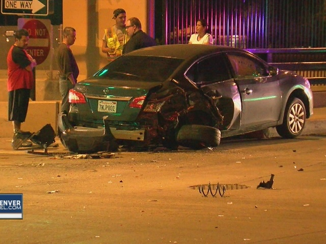 Car totaled in hit-and-run crash