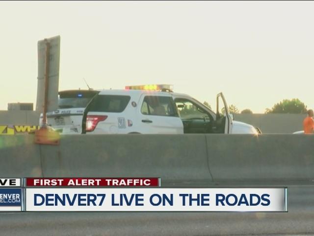 Police officer hit on I-70