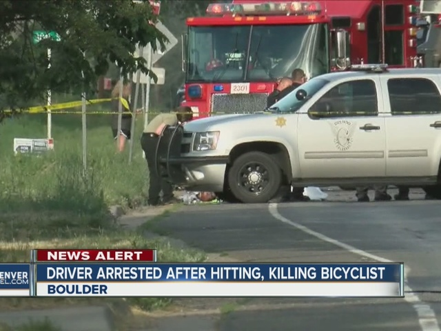 Driver arrested after hitting, killing bicyclist