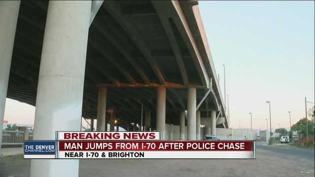 Man survives jump off bridge after police chase