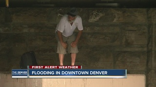 Fierce storm strands people along Cherry Creek