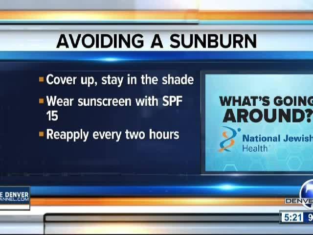 Avoiding A Sunburn