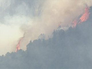 4 wildfires burning in Colorado Monday