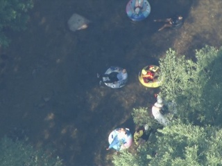 Boulder residents tube to work Friday