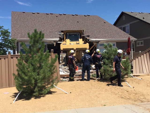 Bulldozer plows into home in Green Valley Ranch area of Denver
