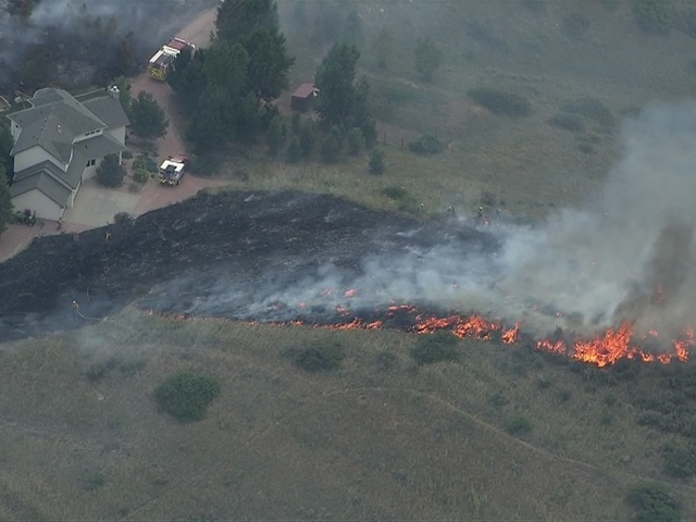 Grass fire near Carter Lake