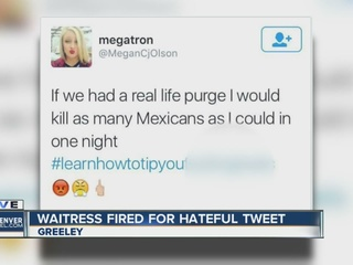 Waitress's angry tweet offends Greeley residents