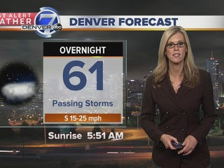 Strong storms for the plains Sunday night
