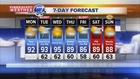 90s expected through Wednesday