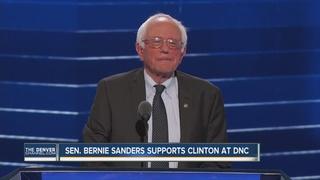 Sen. Bernie Sanders sends message of unity