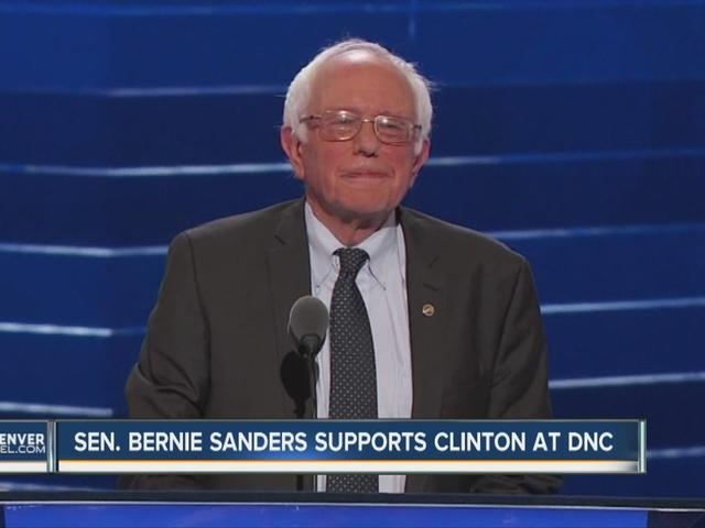 Sen. Bernie Sanders gives message of unity in primetime speech