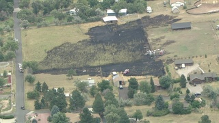 Wildfire burned near Chatfield State Park