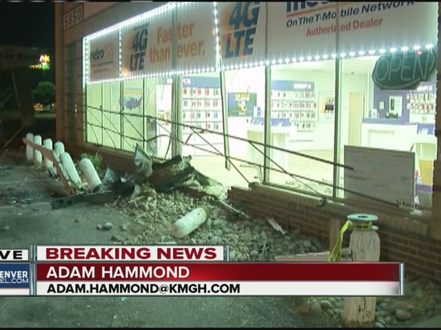 Juvenile robbery suspect crashes into store during chase