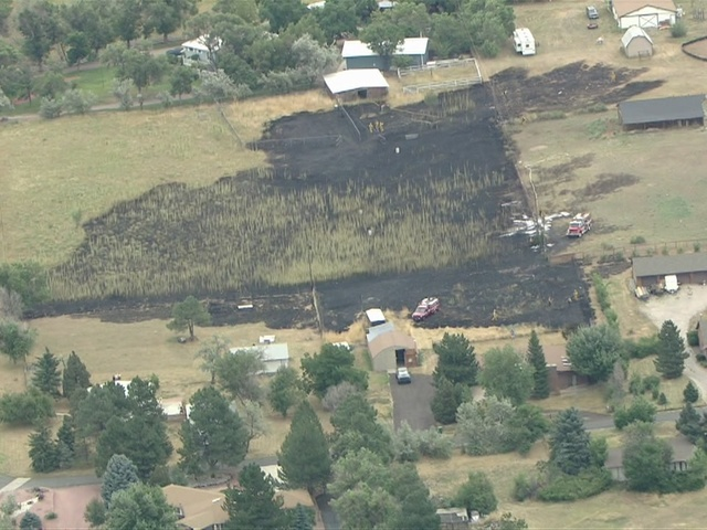 RAW VIDEO: Grass fire burns near Chatfield State Park