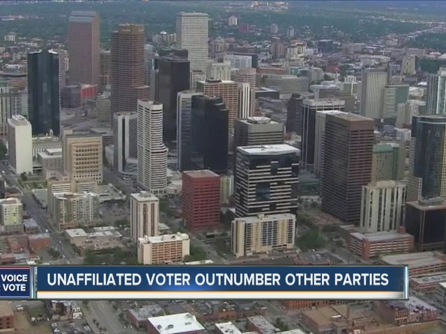 Unaffiliated voters outnumber Democrats and Republicans in Colorado
