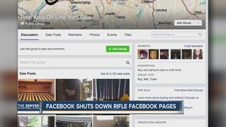 2 Rifle-area Facebook groups briefly shut down