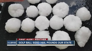 Golf-ball hail, heavy rain hit Colorado Springs
