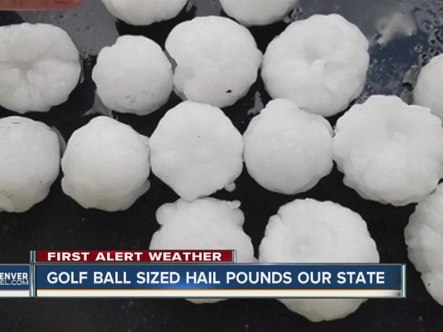 Hail pounds parts of Colorado