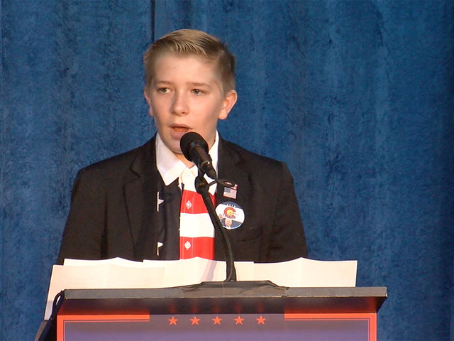 Kids for Trump: Child in support of GOP steals show at Mike Pence town hall