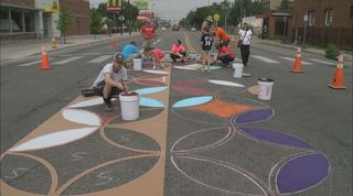Making Colfax Ave. safer with art in crosswalks