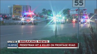 Pedestrian hit and killed on I-25 Frontage Road