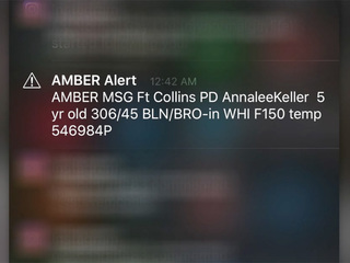CBI defends early AM use of AMBER Alert text