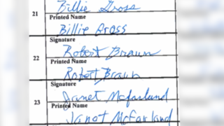 Possible forged signatures turned in yet again