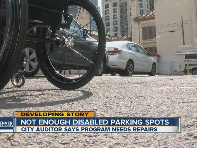 City Auditor says there aren't enough disabled parking spots in Denver