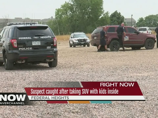 Suspect caught after taking SUV with kids inside