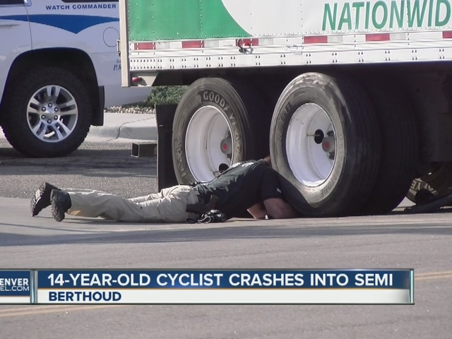 Teen on bicycle hurt in collision with semi in Berthoud