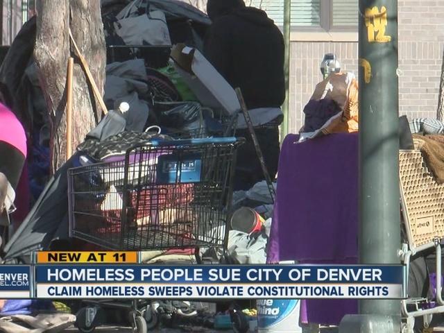 Lawsuit filed on behalf of Denver's homeless