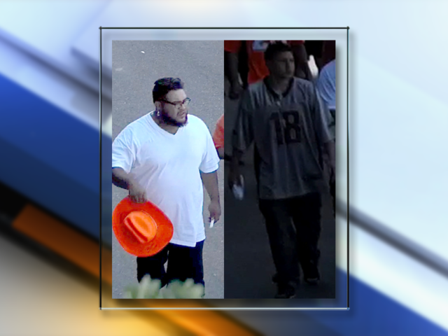 Suspects wanted for stealing Broncos helmet